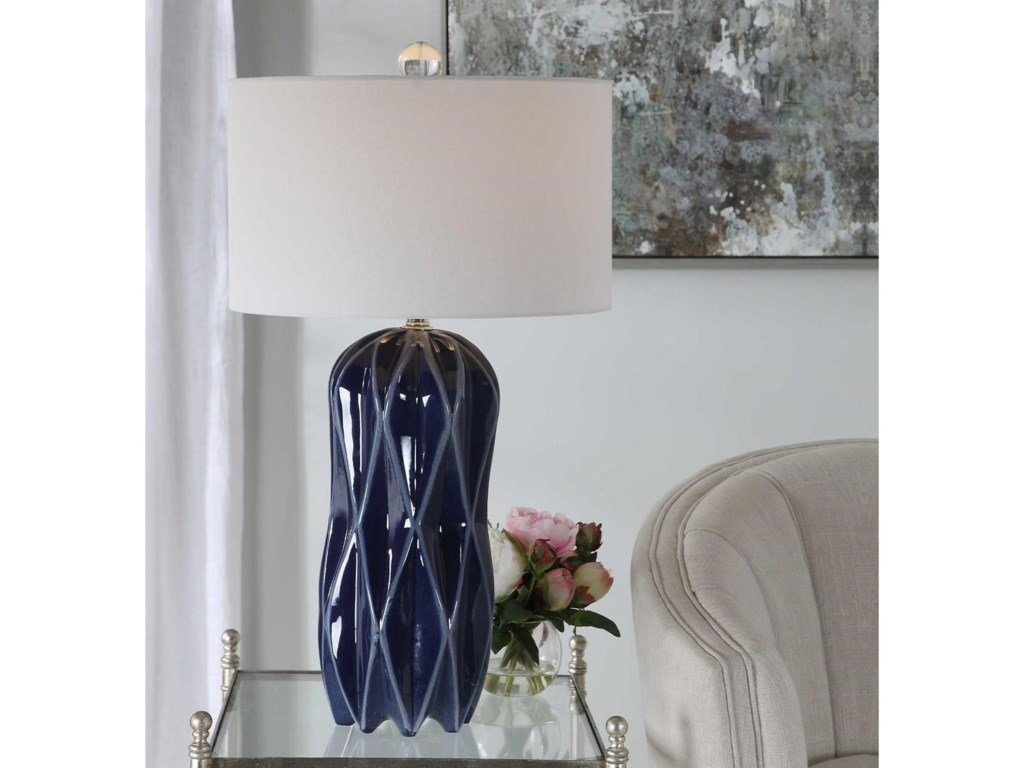 Uttermost Table LampsMalena Blue Table Lamp