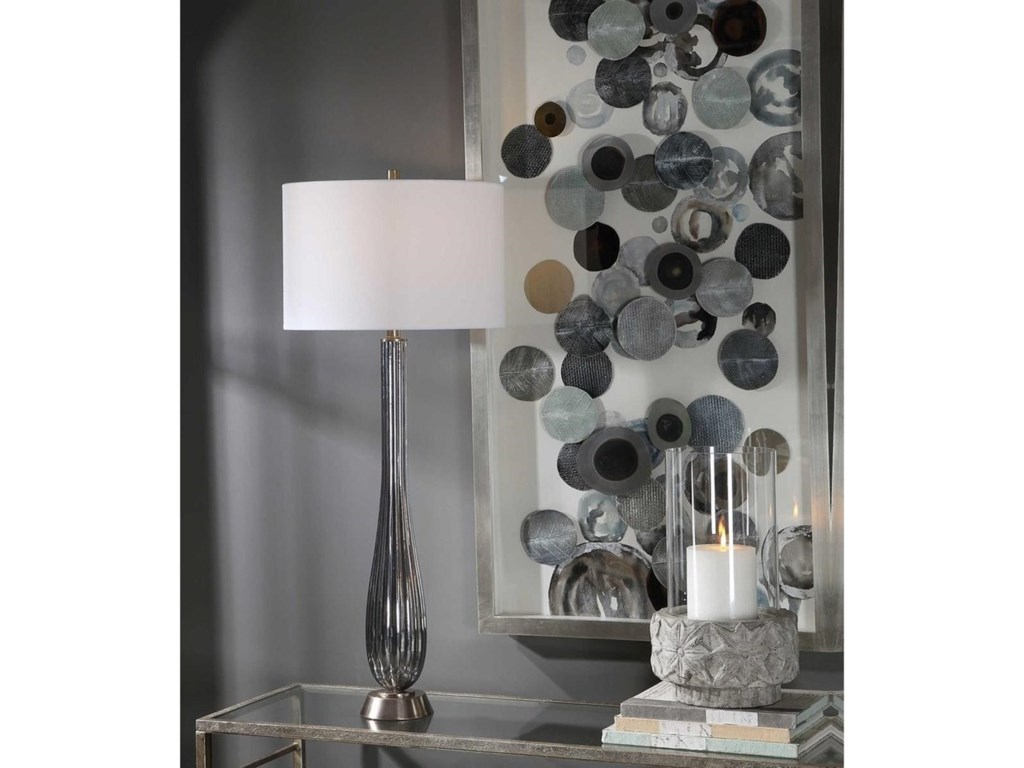 Uttermost Table LampsReeve Gray Glass Table Lamp