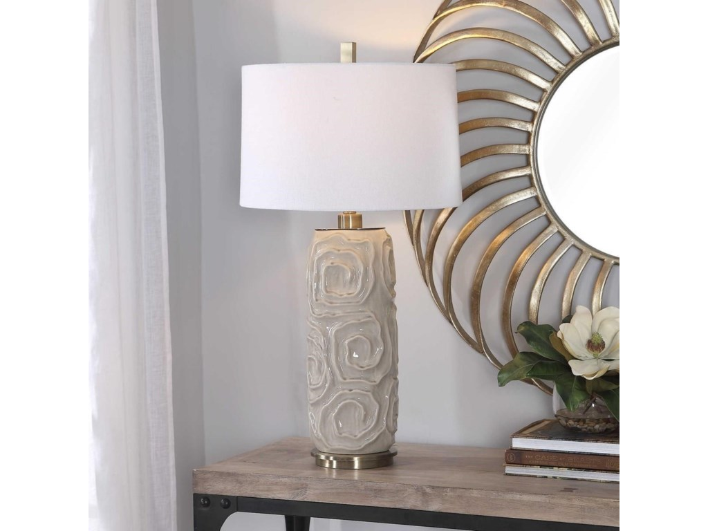 Uttermost Table LampsZade Warm Gray Table Lamp