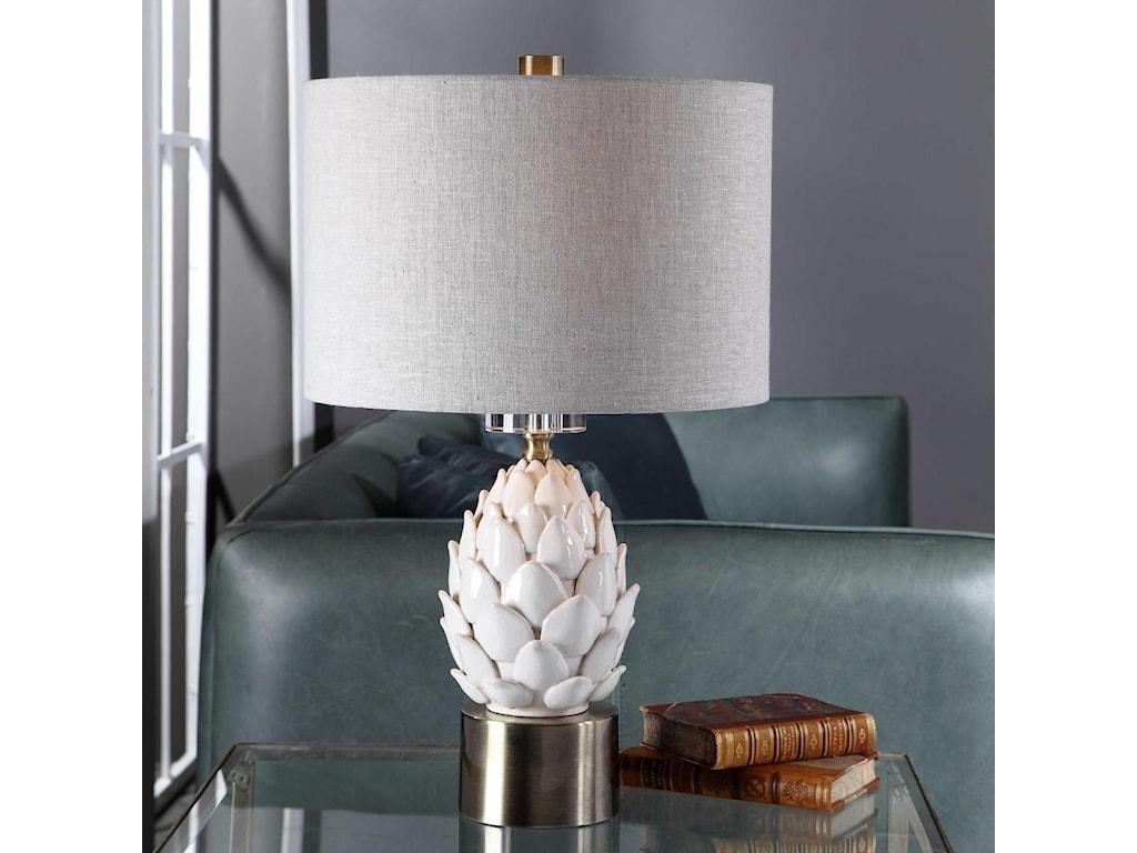 Uttermost Table LampsWhite Artichoke Table Lamp