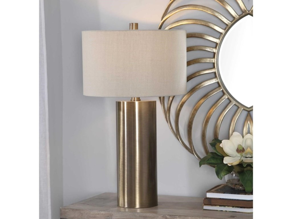 Uttermost Table LampsTaria Brushed Brass Table Lamp