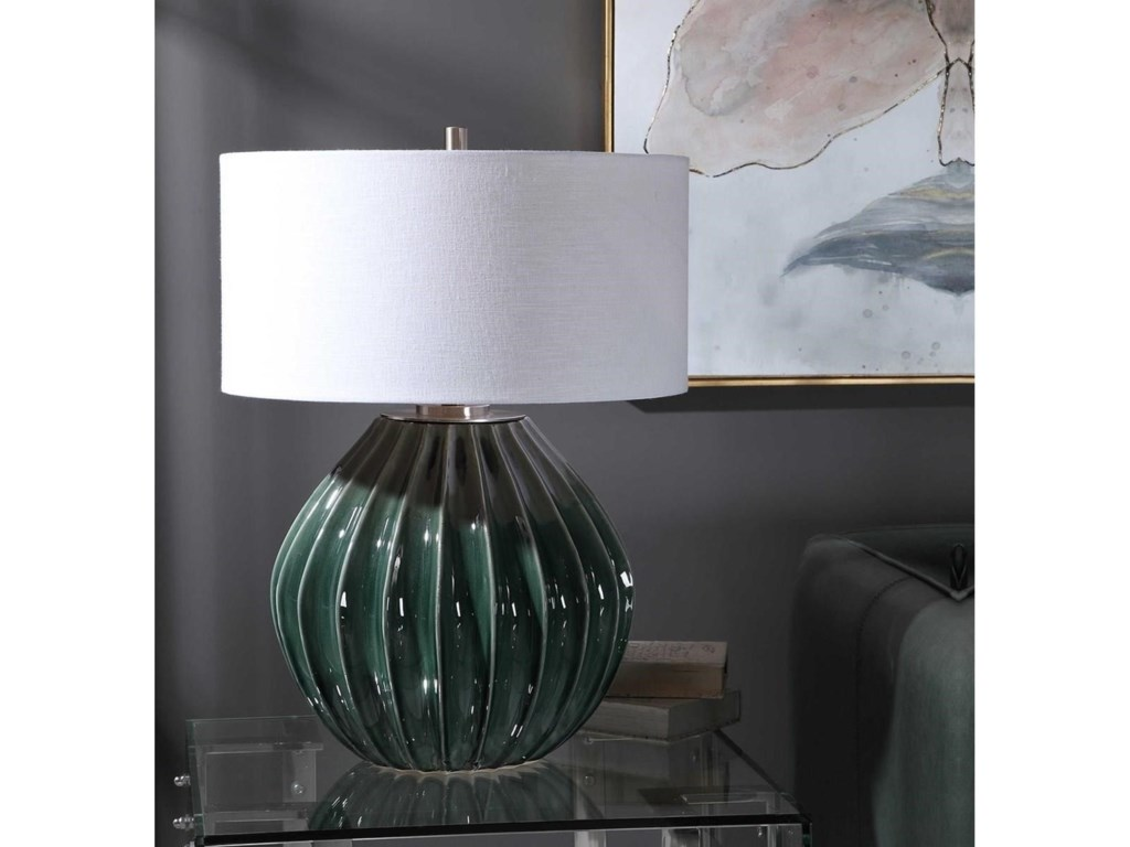 Uttermost Table LampsRhonwen Green Table Lamp