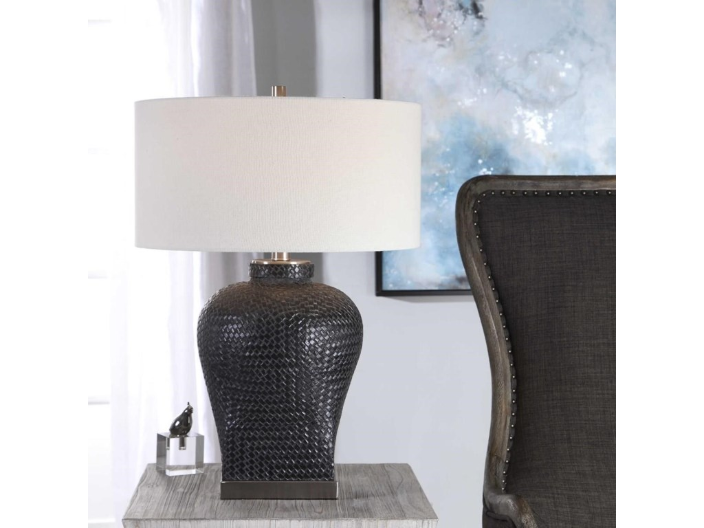 Uttermost Table LampsAkello Weave Texture Table Lamp