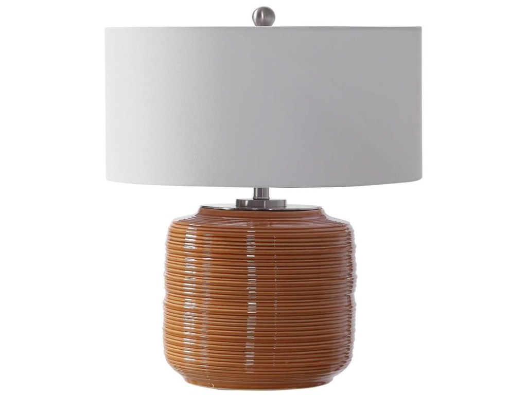 Uttermost Table LampsSolene Orange Table Lamp