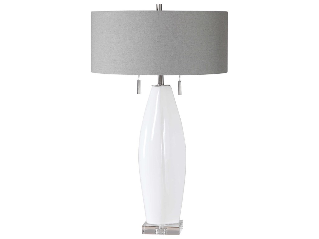 Uttermost Table LampsLaurie White Ceramic Table Lamp