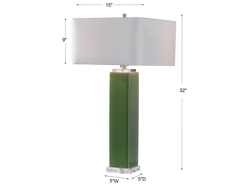 Uttermost Table LampsAneeza Tropical Green Table Lamp