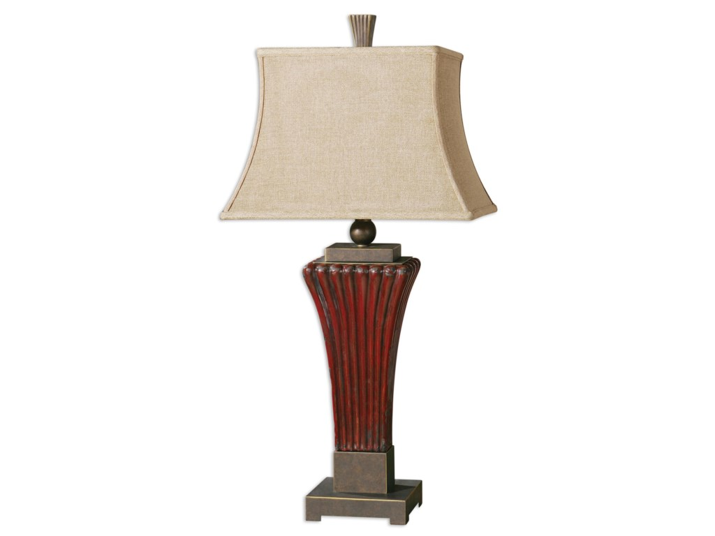 Uttermost Table LampsRosso Ribbed Ceramic Lamp
