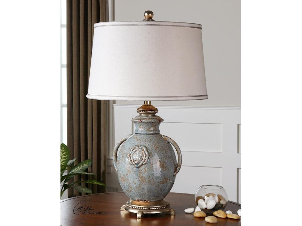 Uttermost Table LampsCancello Blue Glaze Lamp