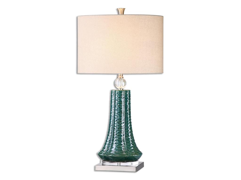 Uttermost Table LampsGosaldo Textured Teal Table Lamp