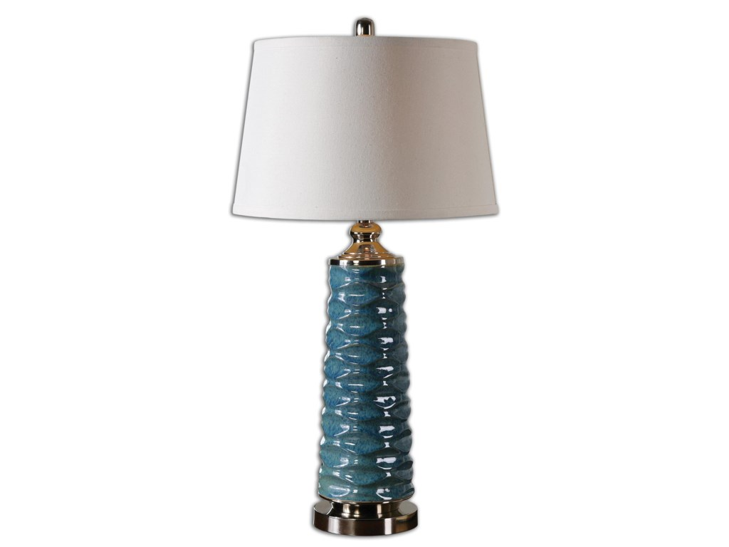 Uttermost Table LampsDelavan Rust Blue Table Lamp