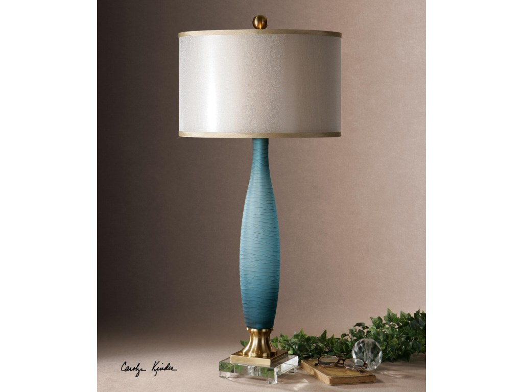 Uttermost Table LampsAlaia Blue Glass Table Lamp