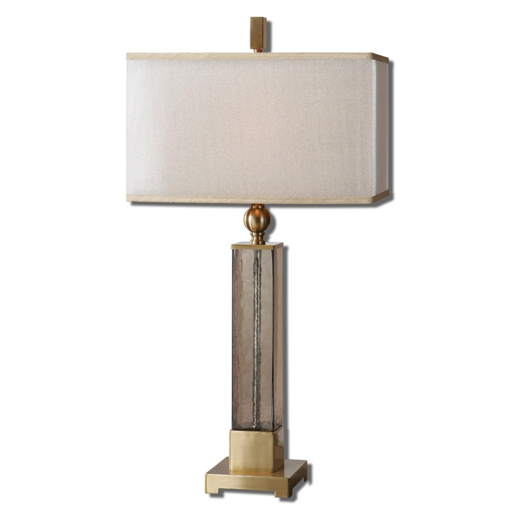 Uttermost Table Lamps 26583 1 Caecilia Amber Glass Table Lamp Dunk