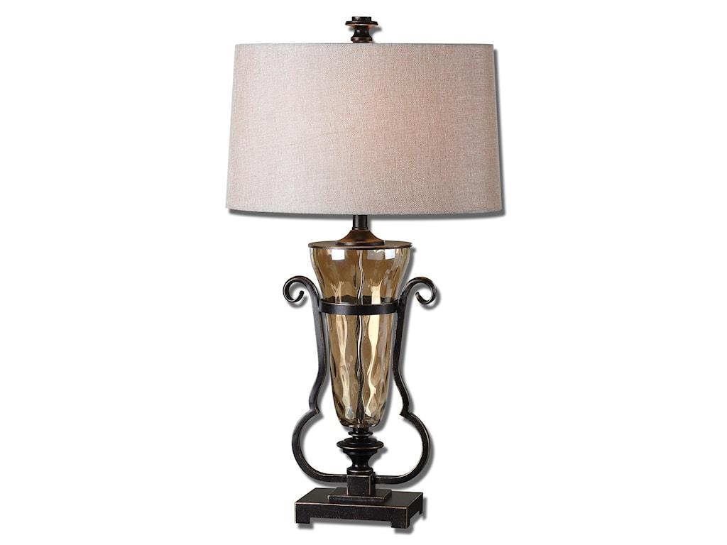 Uttermost Table LampsAemiliana Amber Glass Table Lamp