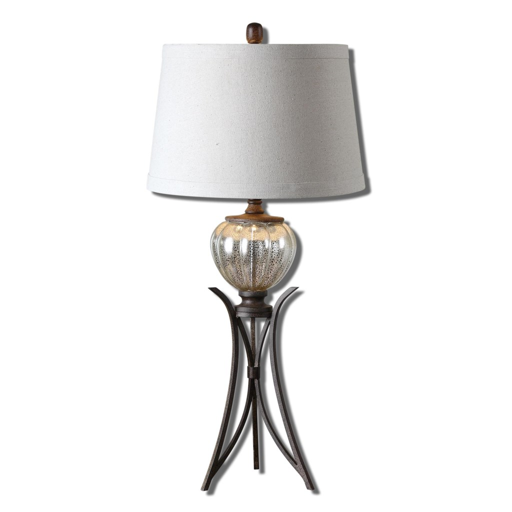 Uttermost Table Lamps 26598 Cebrario Mercury Glass Table Lamp Dunk