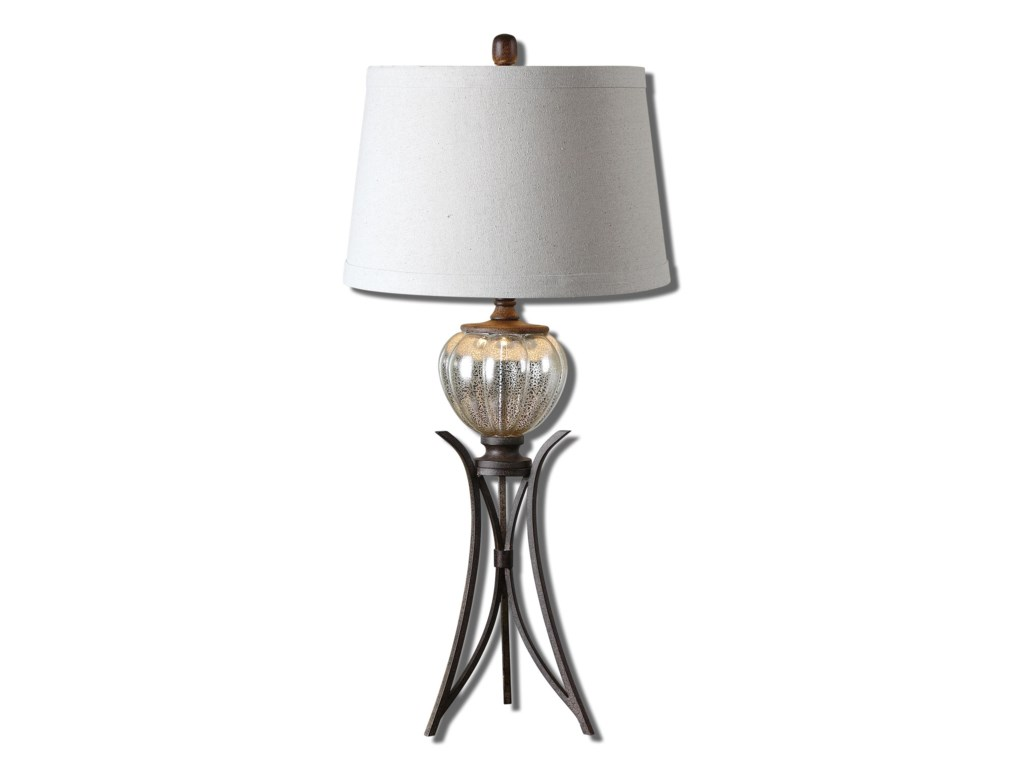Uttermost Table LampsCebrario Mercury Glass Table Lamp