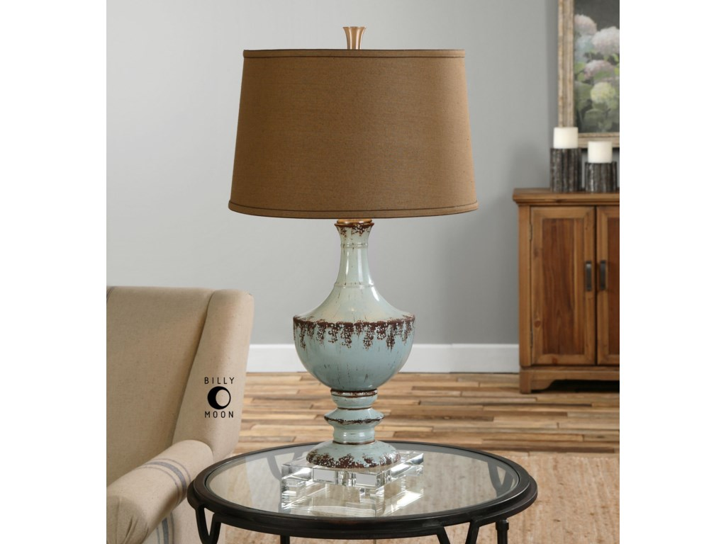 Uttermost Table LampsMolara Aged Blue Table Lamp