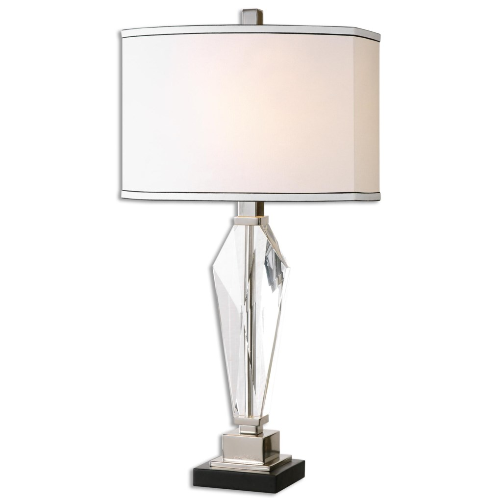 Uttermost Table Lamps Altavilla Crystal Table Lamp Miskelly
