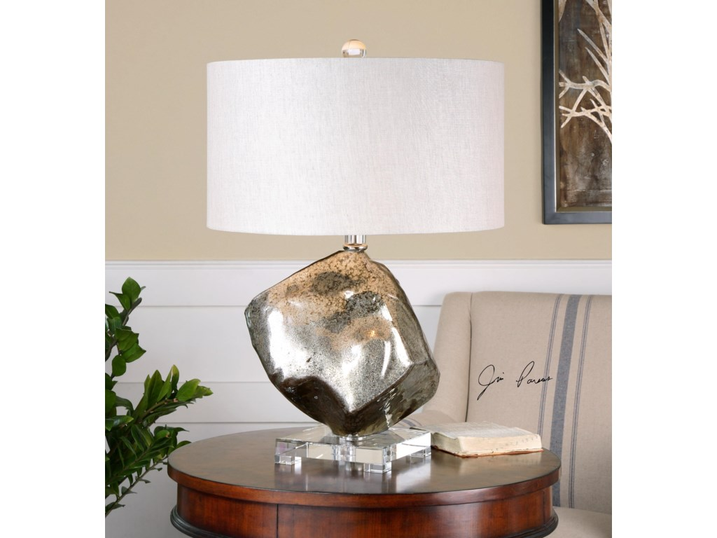 Uttermost Table LampsEverly Silver Glass Table Lamp