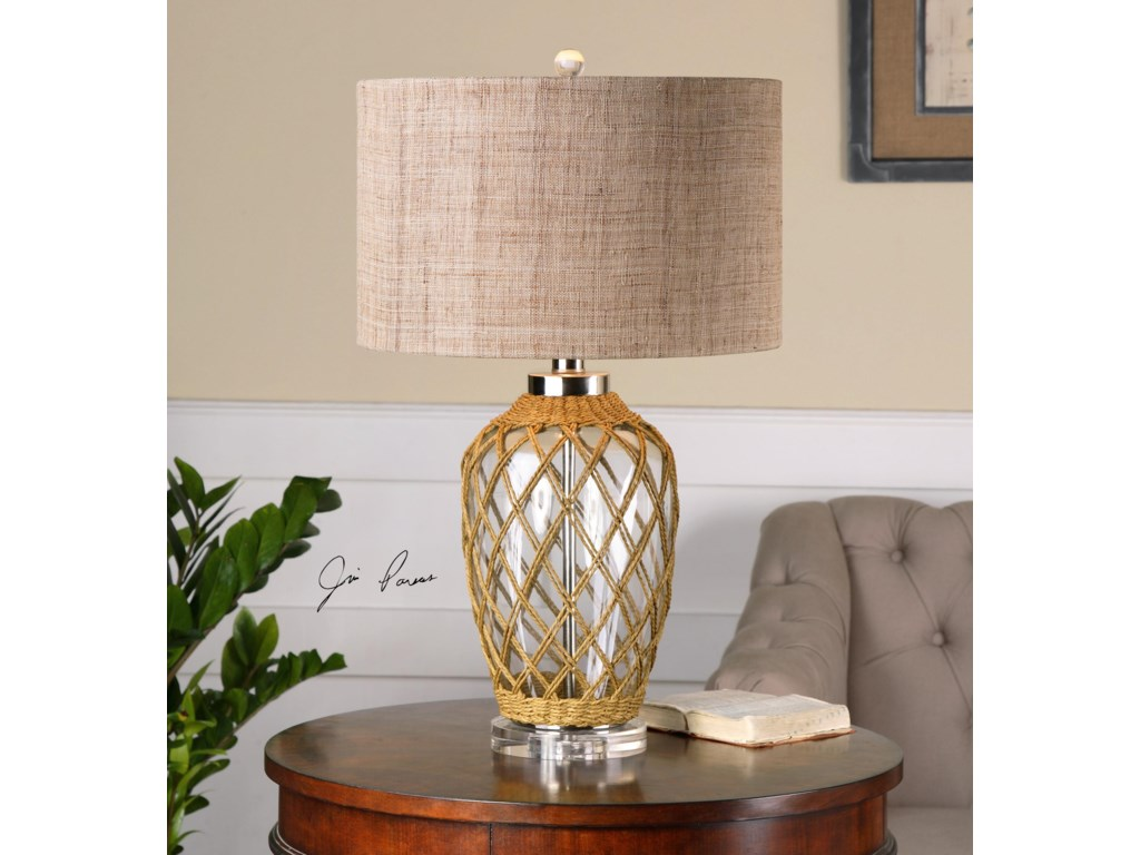 Uttermost LampsFoiano Glass Rope Table Lamp
