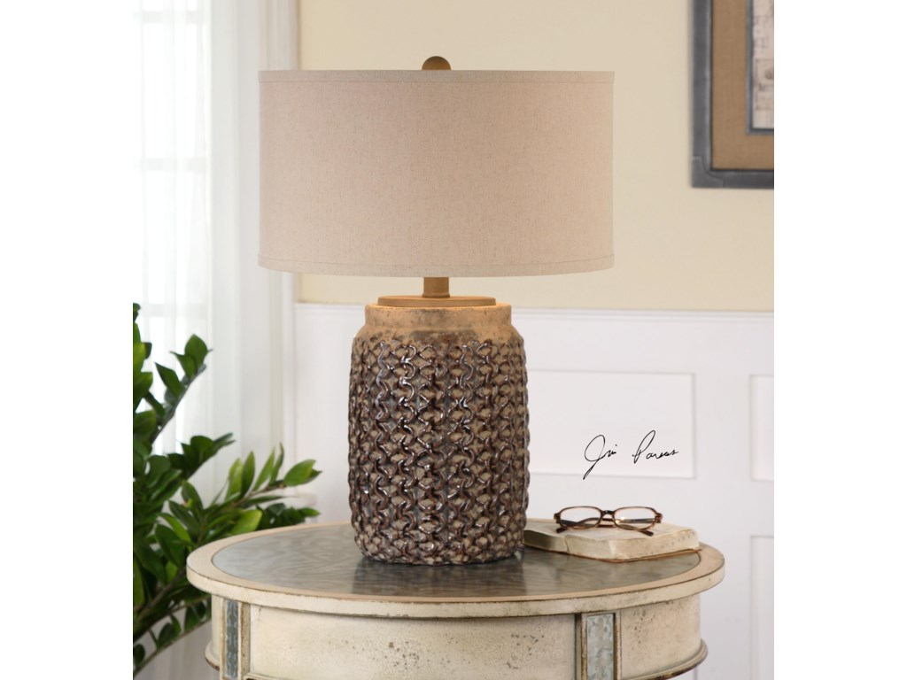 Uttermost Table LampsBucciano Textured Ceramic Table Lamp