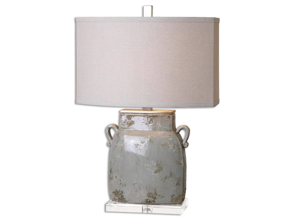 Uttermost Table LampsMelizzano Ivory-Gray Table Lamp