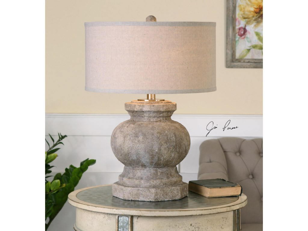 Uttermost Table LampsVerdello Antiqued Stone Table Lamp