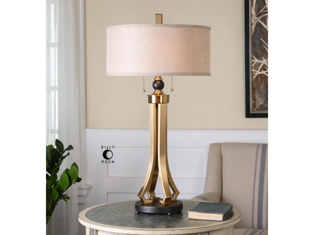 Uttermost Table LampsSelvino Brushed Brass Table Lamp