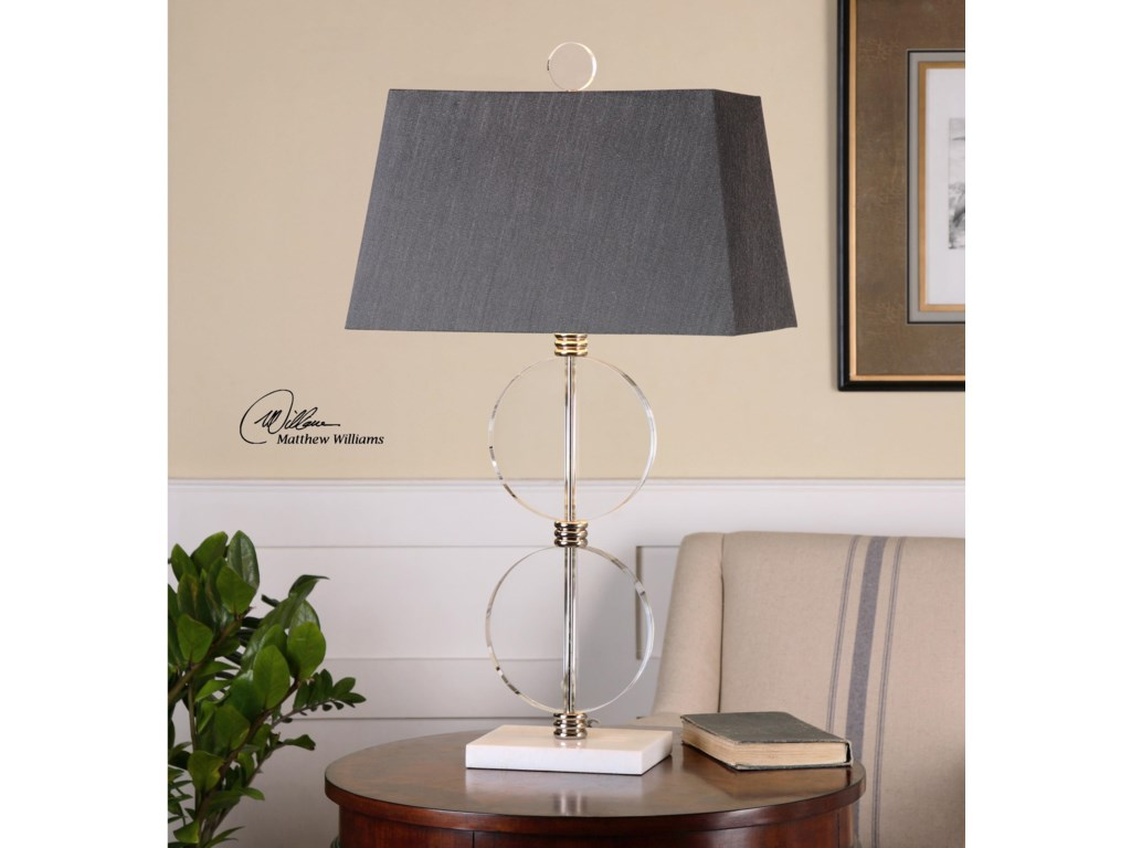 Uttermost Table LampsTelesino Crystal Disk Table Lamp