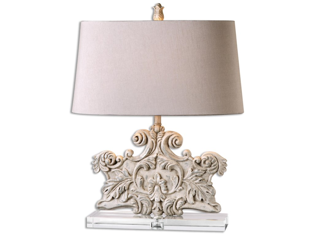 Uttermost Table LampsSchiavoni Ivory Stone Table Lamp