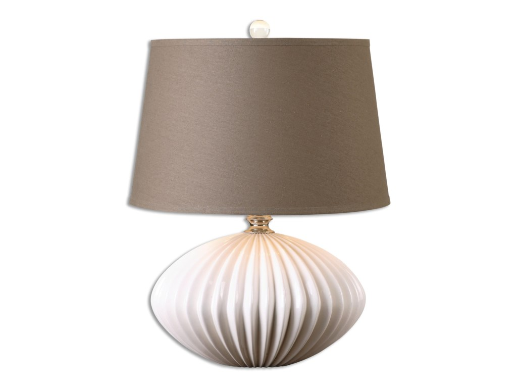 Uttermost Table LampsBariano Gloss White Table Lamp