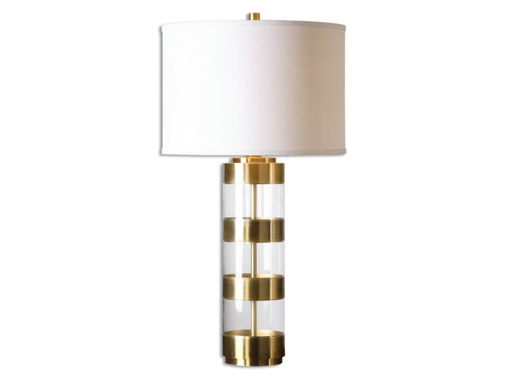 Uttermost Table LampsAngora Brushed Brass Table Lamp