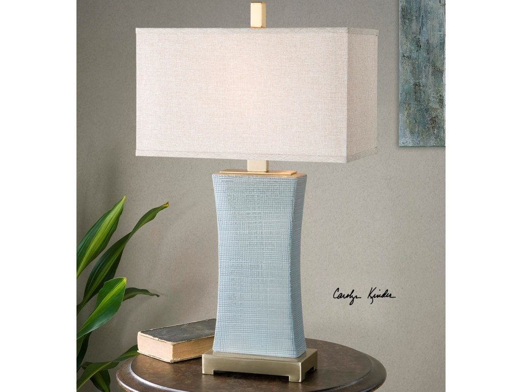 Uttermost Table LampsCantarana Blue Gray Table Lamp