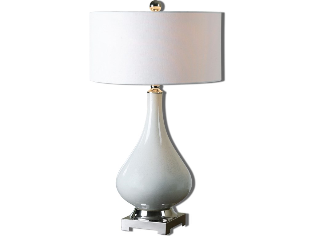 Uttermost Table LampsHelton White Table Lamp