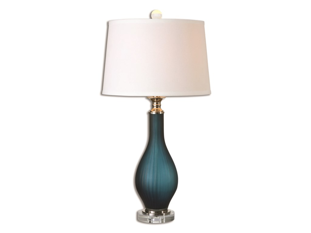 Uttermost Table LampsShavano Blue Glass Table Lamp