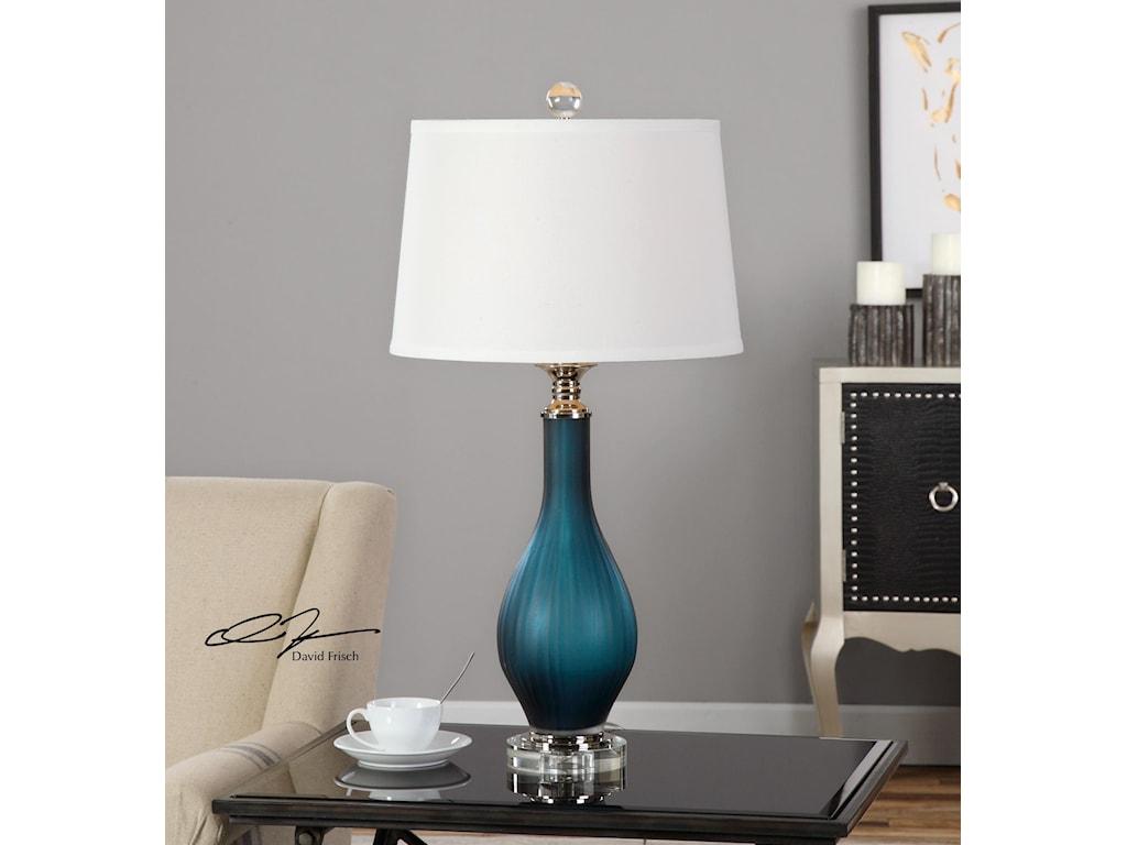 Uttermost LampsShavano Blue Glass Table Lamp