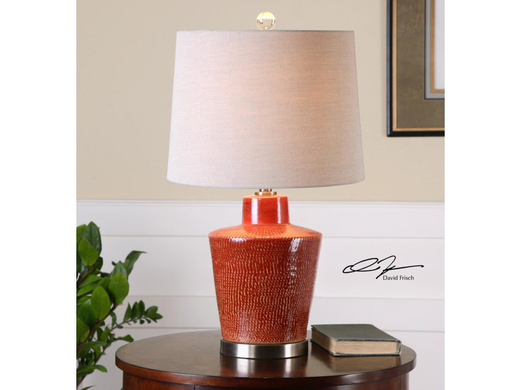 Uttermost Table LampsCornell Brick Red Table Lamp