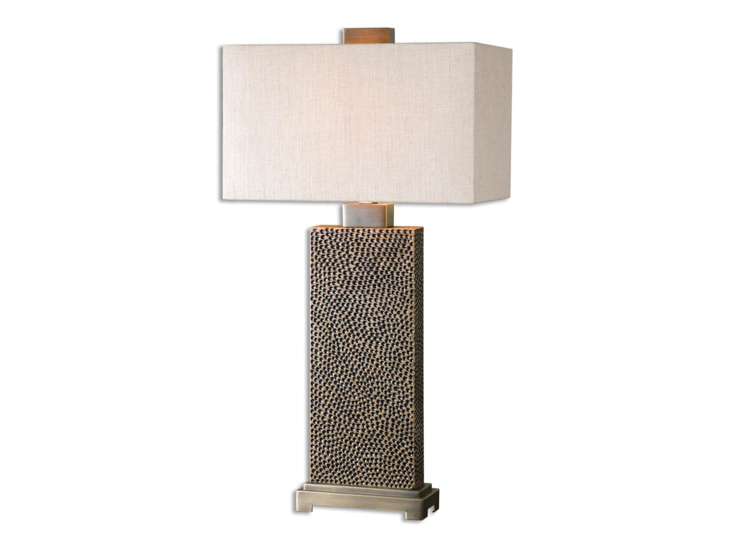 Uttermost Table LampsCanfield Coffee Bronze Table Lamp