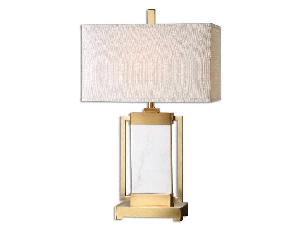 Uttermost Table LampsMarnett White Marble Table Lamp