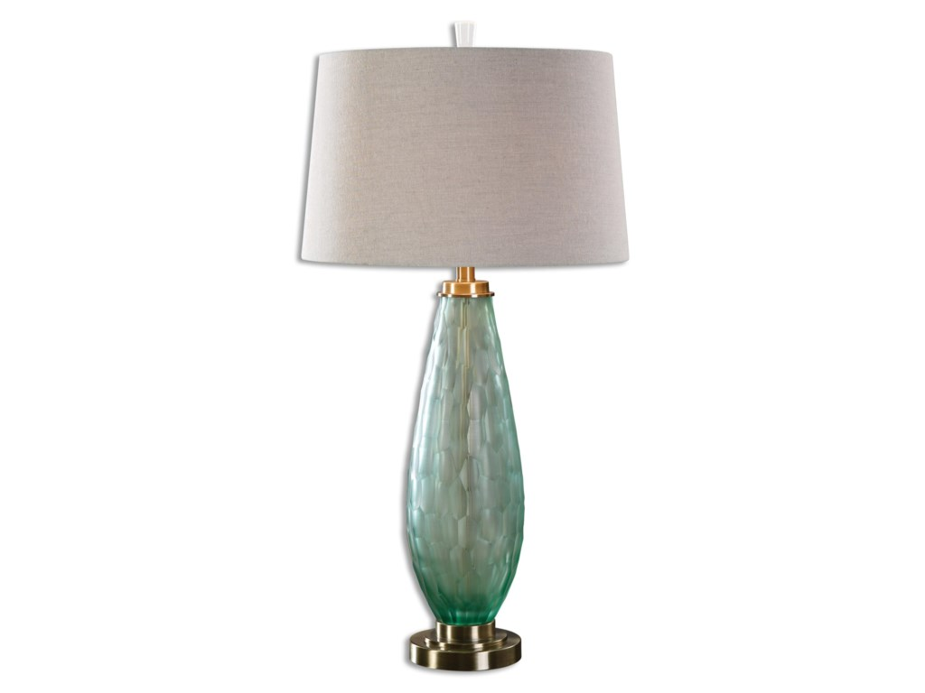 Uttermost Table LampsLenado Sea Green Glass Table Lamp