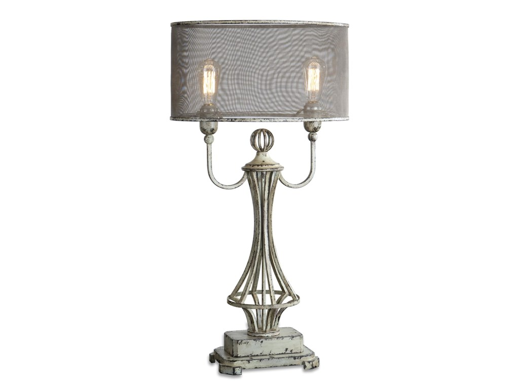 Uttermost Table LampsPontoise Aged Ivory Table Lamp