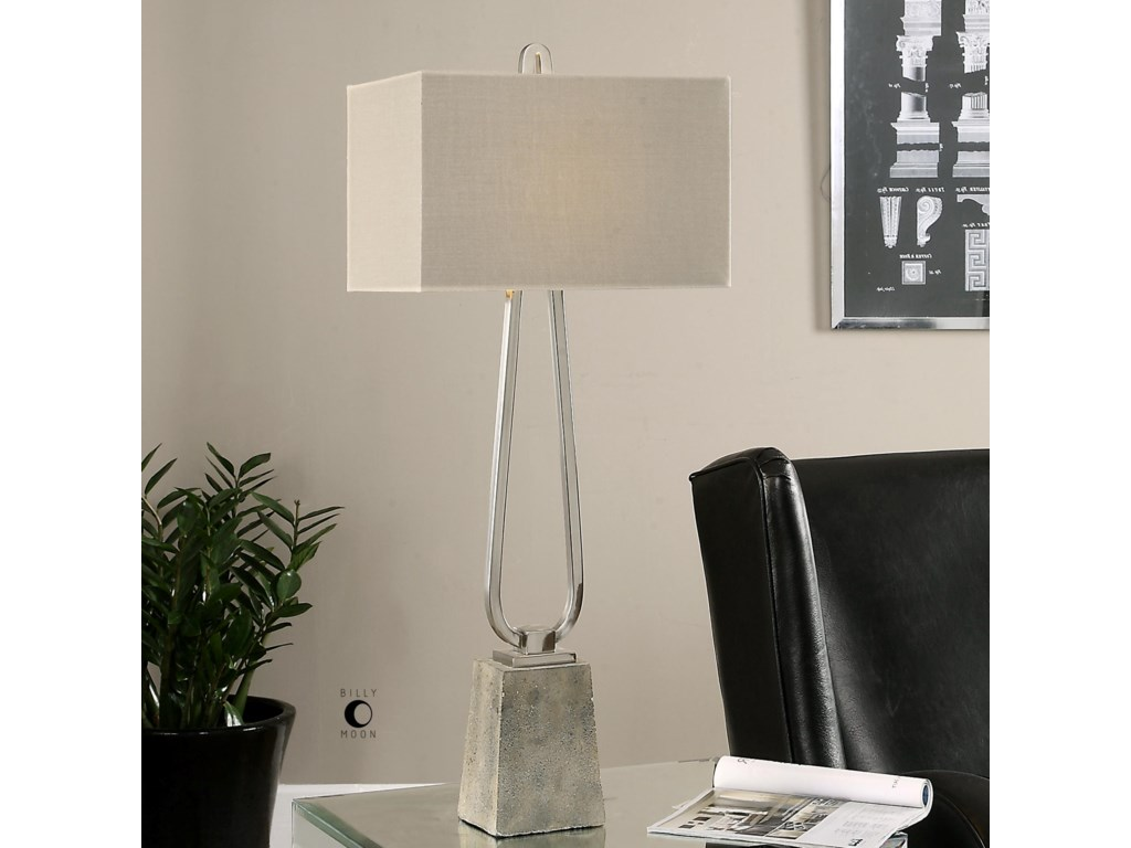 Uttermost Table LampsCarugo Polished Nickel Lamp