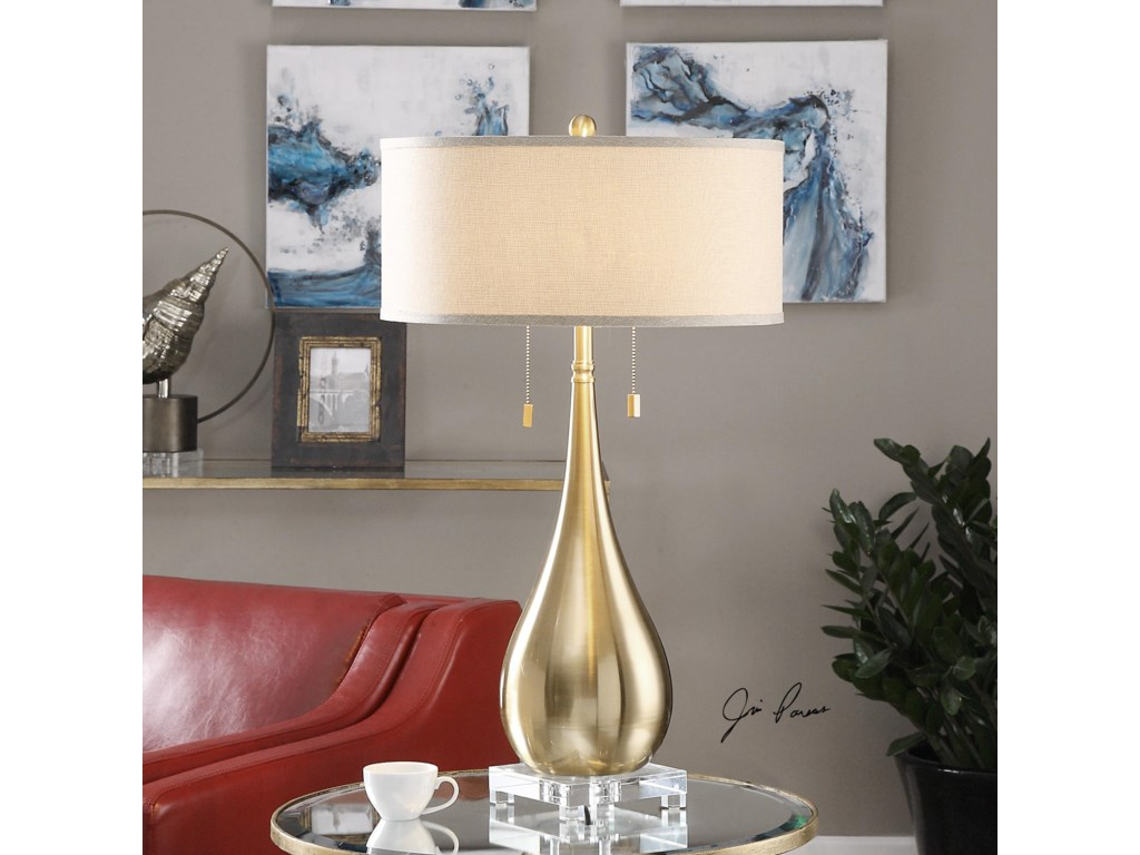 Uttermost Table LampsLagrima Brushed Brass Lamp