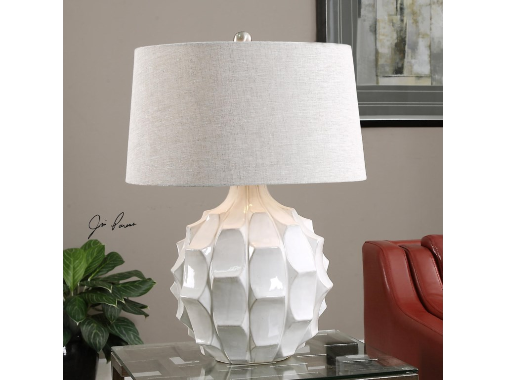 Uttermost Table LampsGuerina Scalloped White Lamp