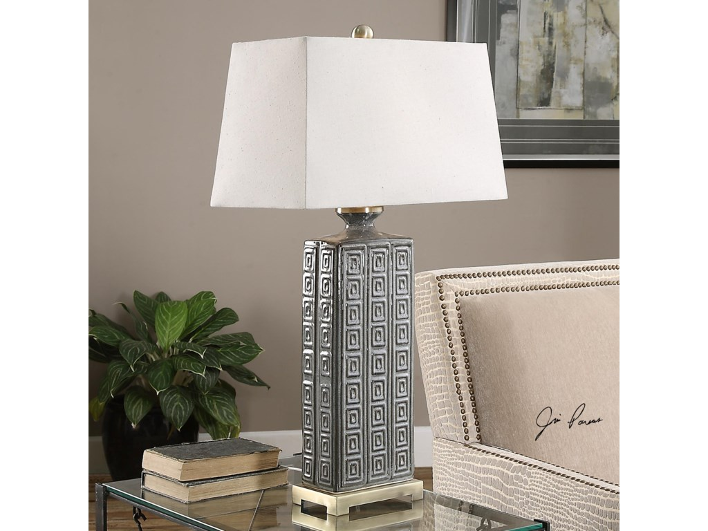 Uttermost Table LampsCasale Aged Gray Lamp