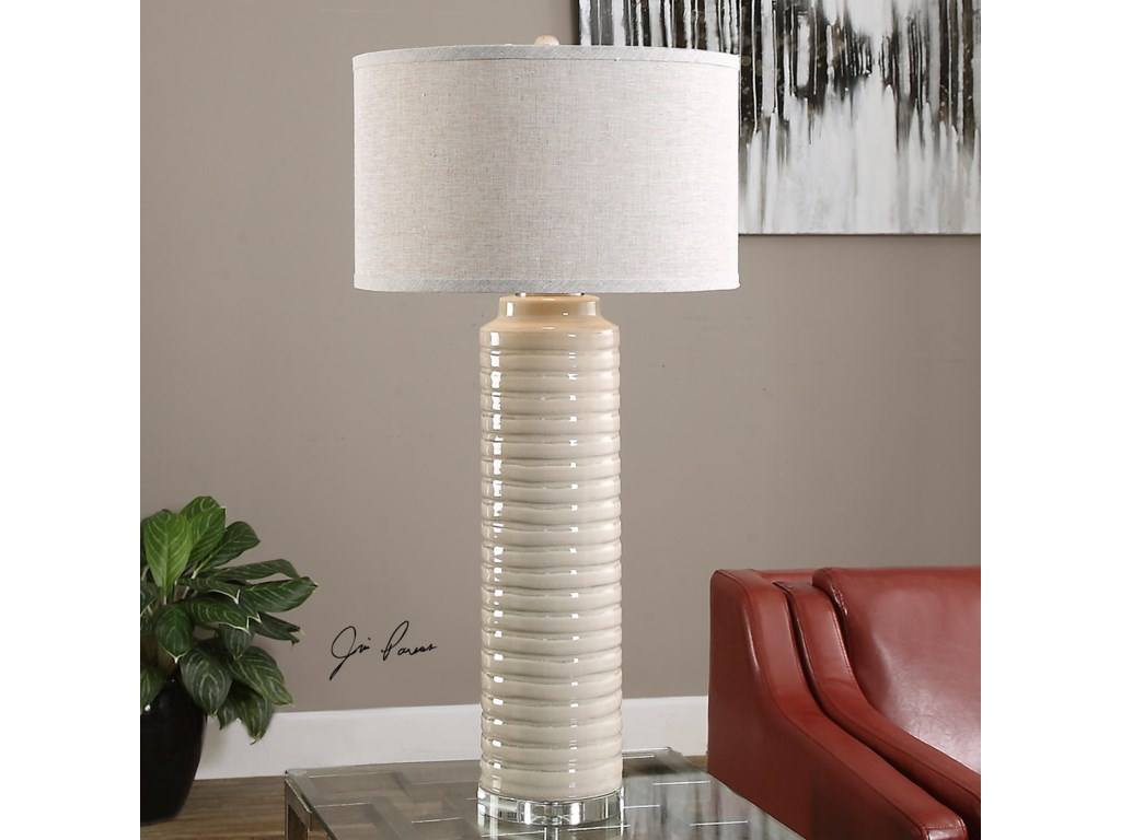 Uttermost Table LampsYana Ribbed Cylinder Lamp