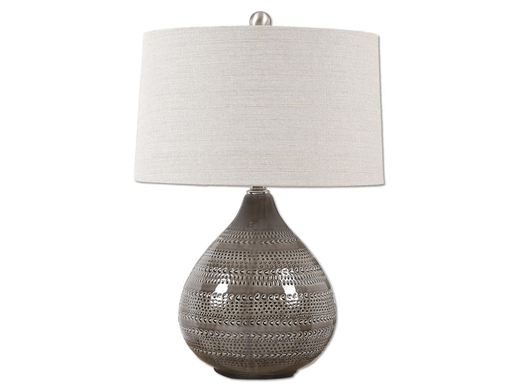 Uttermost Table LampsBatova Smoke Gray Lamp