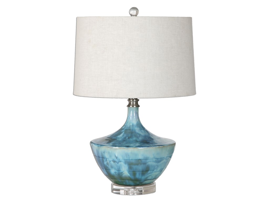 Uttermost Table LampsChasida Blue Ceramic Lamp