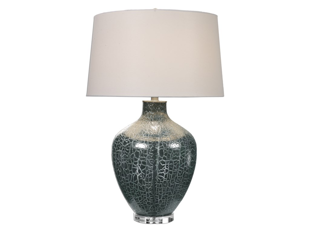 Uttermost Table LampsZumpano Crackled Gray Table Lamp