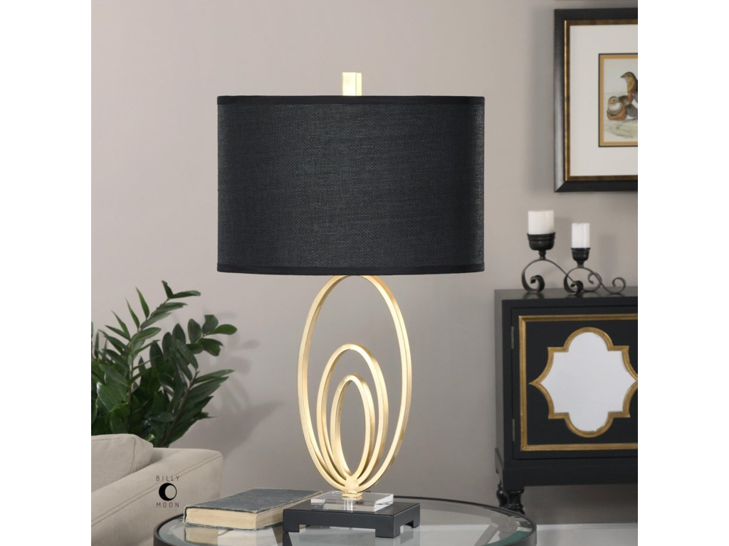 Uttermost Table LampsTrigolo Bright Gold Lamp
