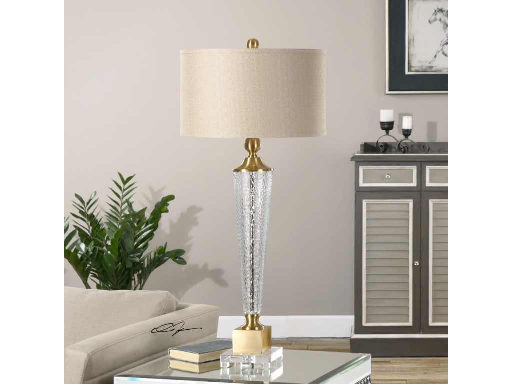 Uttermost Table LampsCredera Textured Glass Lamp